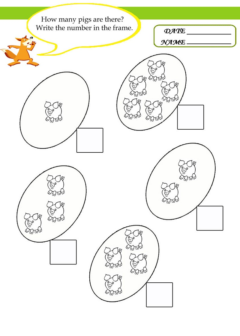 free math worksheets for kids 4