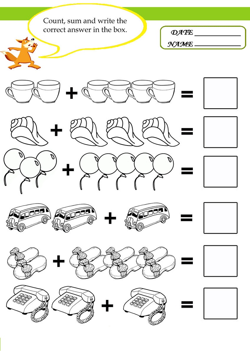 free math worksheets for kids 5