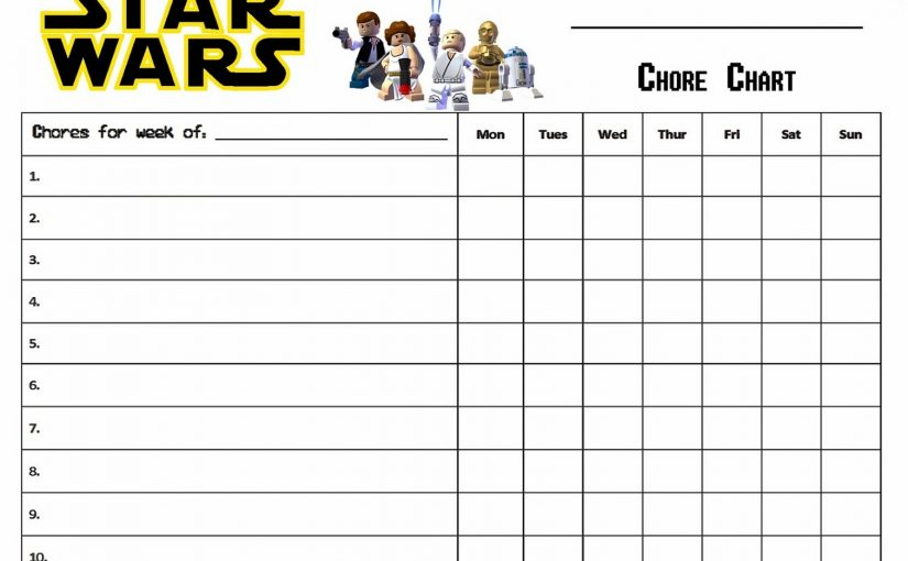 Free Printable Chore Charts for All Ages