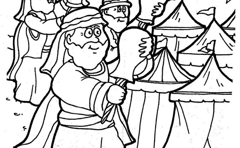 gideon coloring pages 1