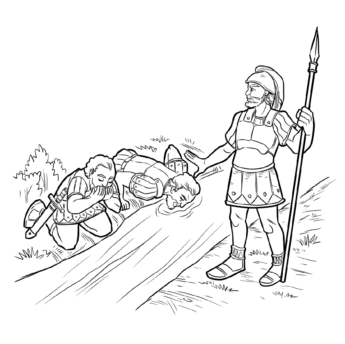 gideon coloring pages 2