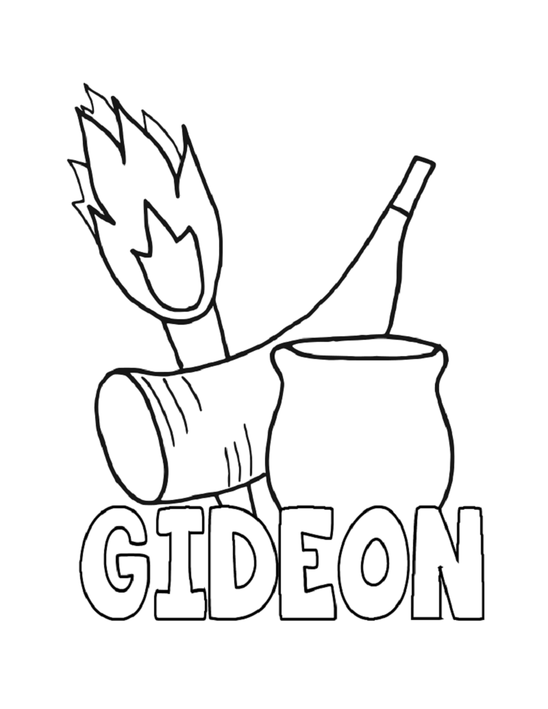 gideon coloring pages 4