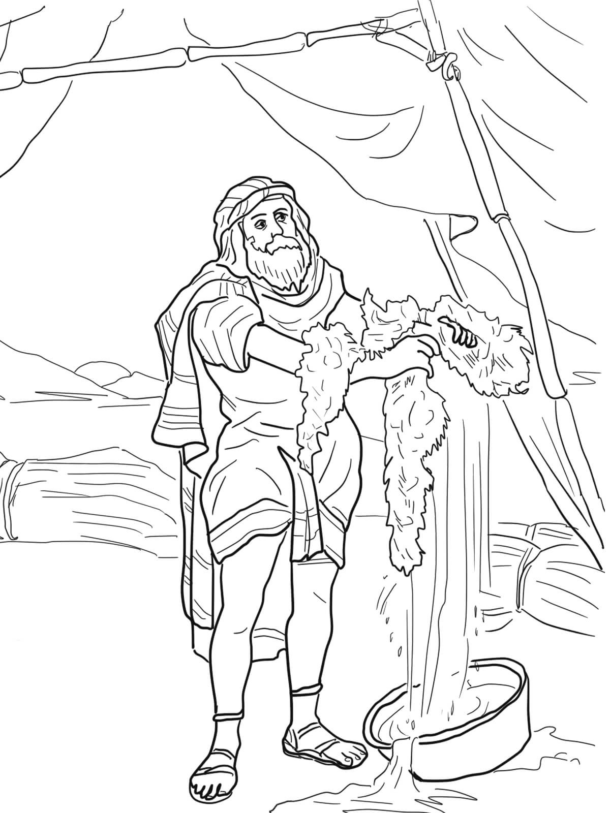 gideon coloring pages 5