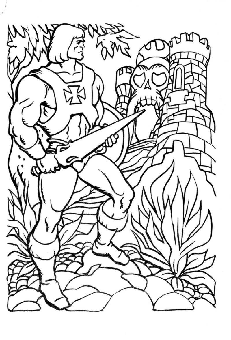 he man coloring pages 2