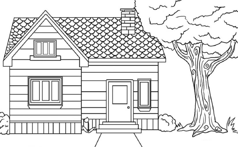 House Coloring Pages Downloadable