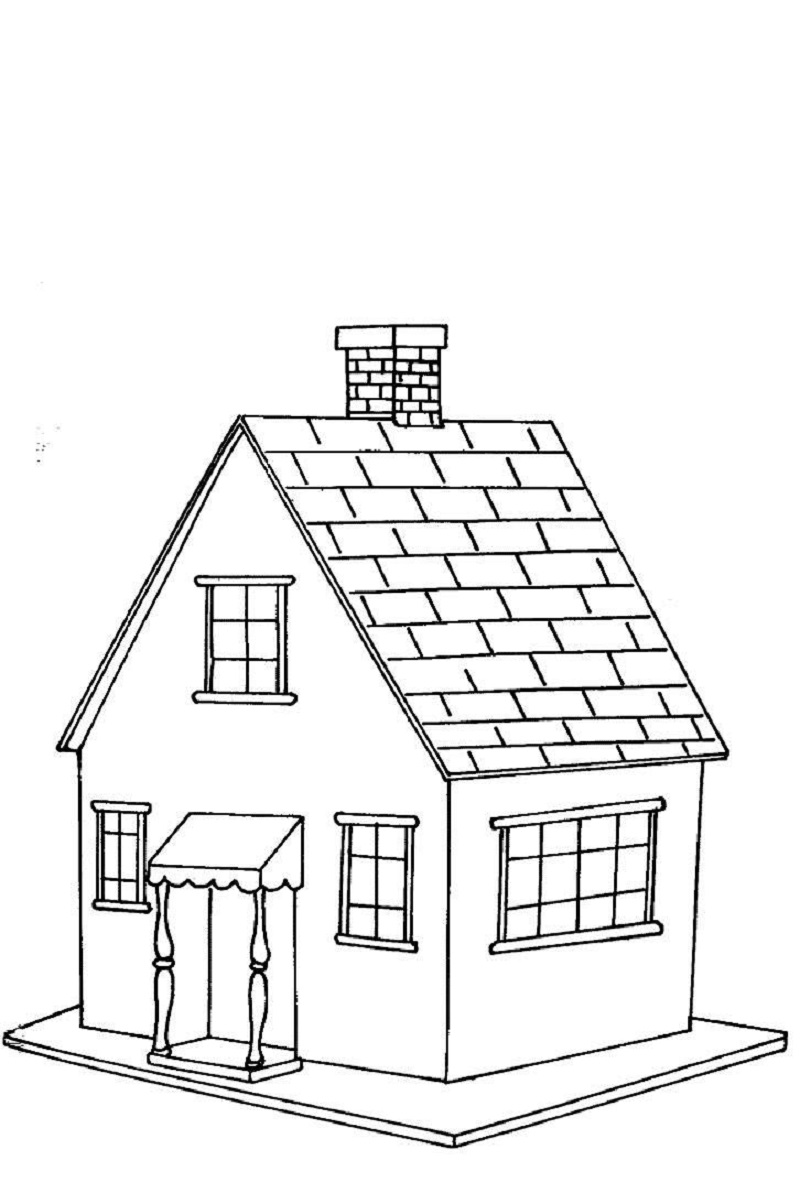 house coloring pages 5