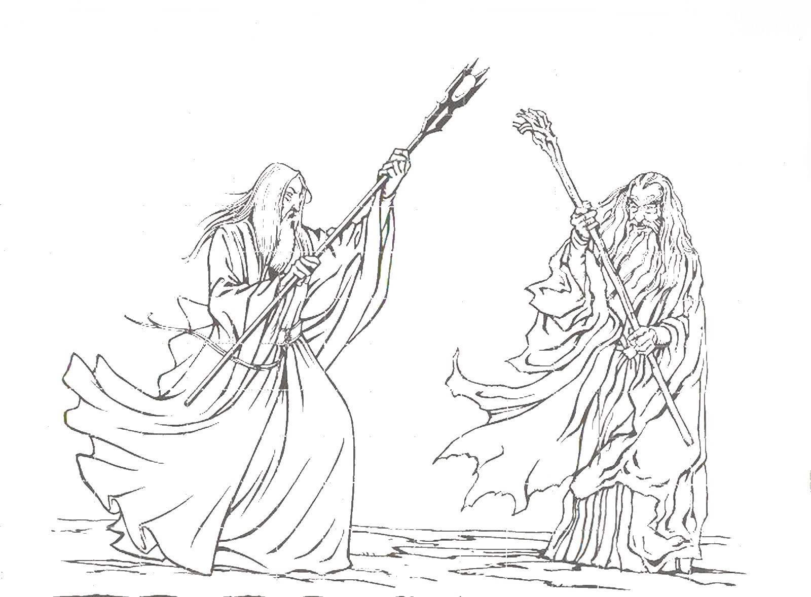 lord of the rings coloring pages 2