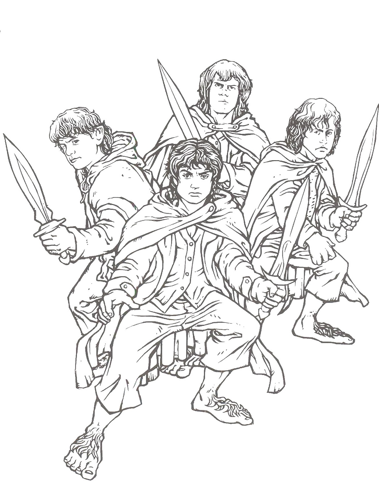 lord of the rings coloring pages 3