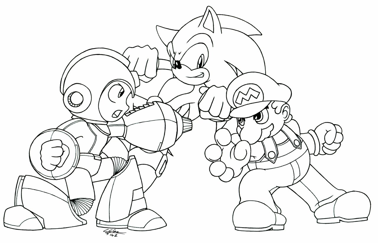 mega man coloring pages 1