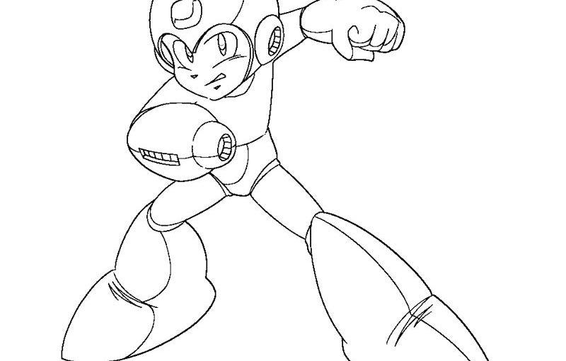 mega man coloring pages 2