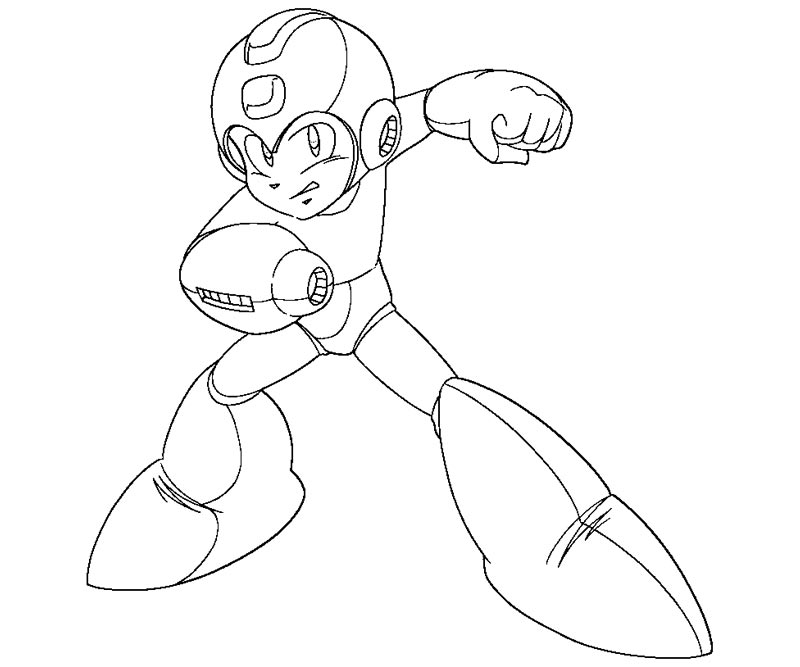 mega man coloring pages 2