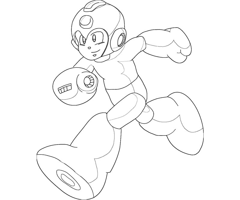 mega man coloring pages 3