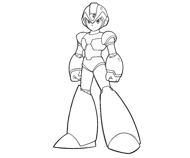 mega man coloring pages 4