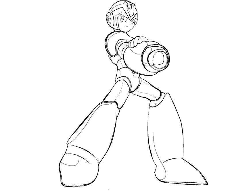 mega man coloring pages 5