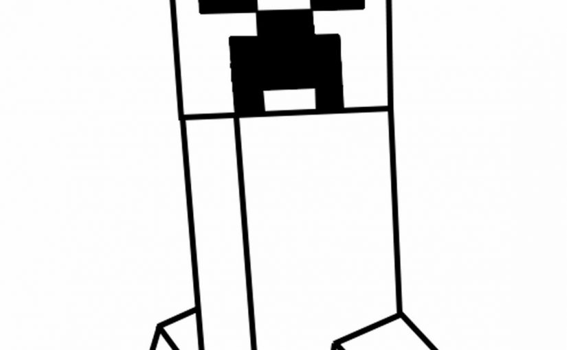 picture about Minecraft Printable Creeper referred to as Minecraft Creeper Coloring Website page Downloadable Educative