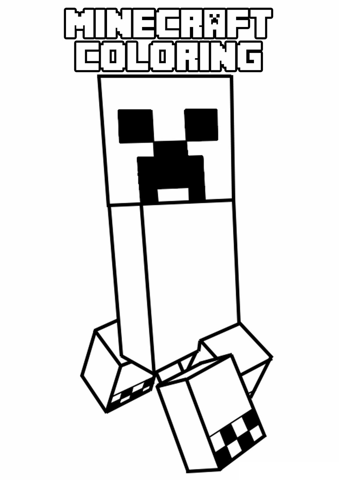 minecraft creeper coloring page 1minecraft creeper coloring page 1