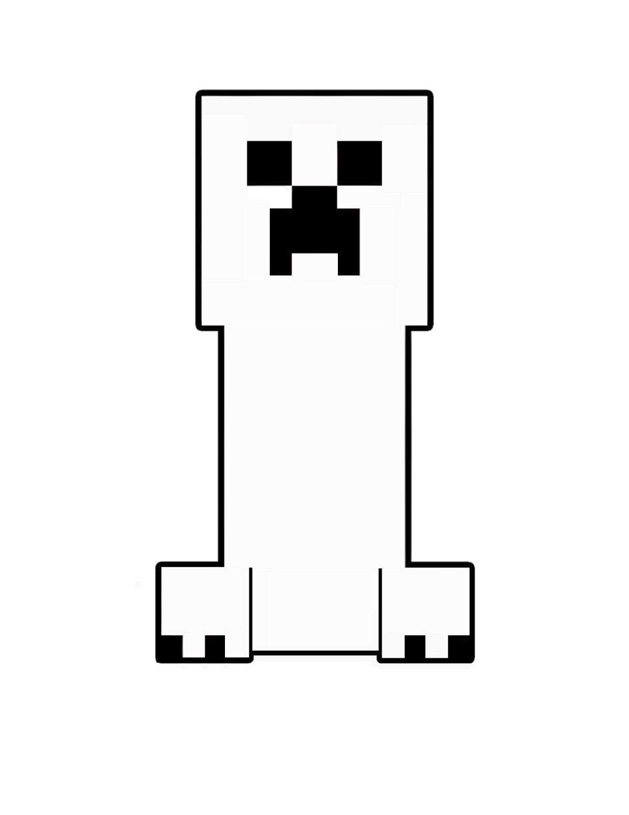 minecraft creeper coloring page 2