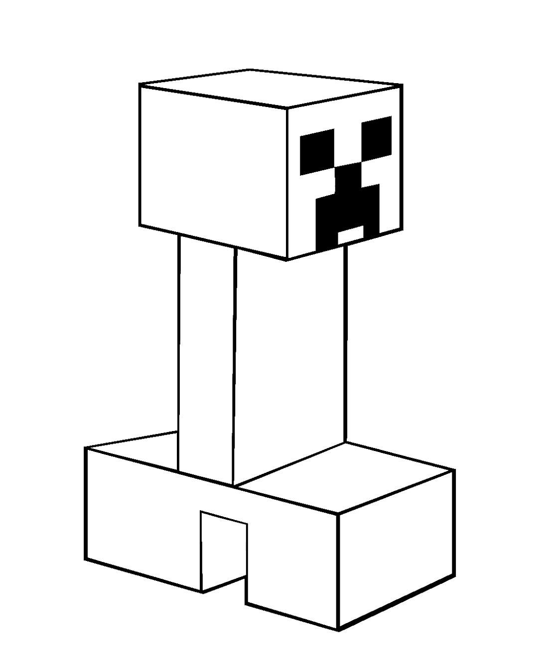 minecraft creeper coloring page 3