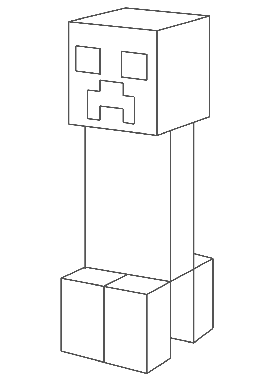 minecraft creeper coloring page 4