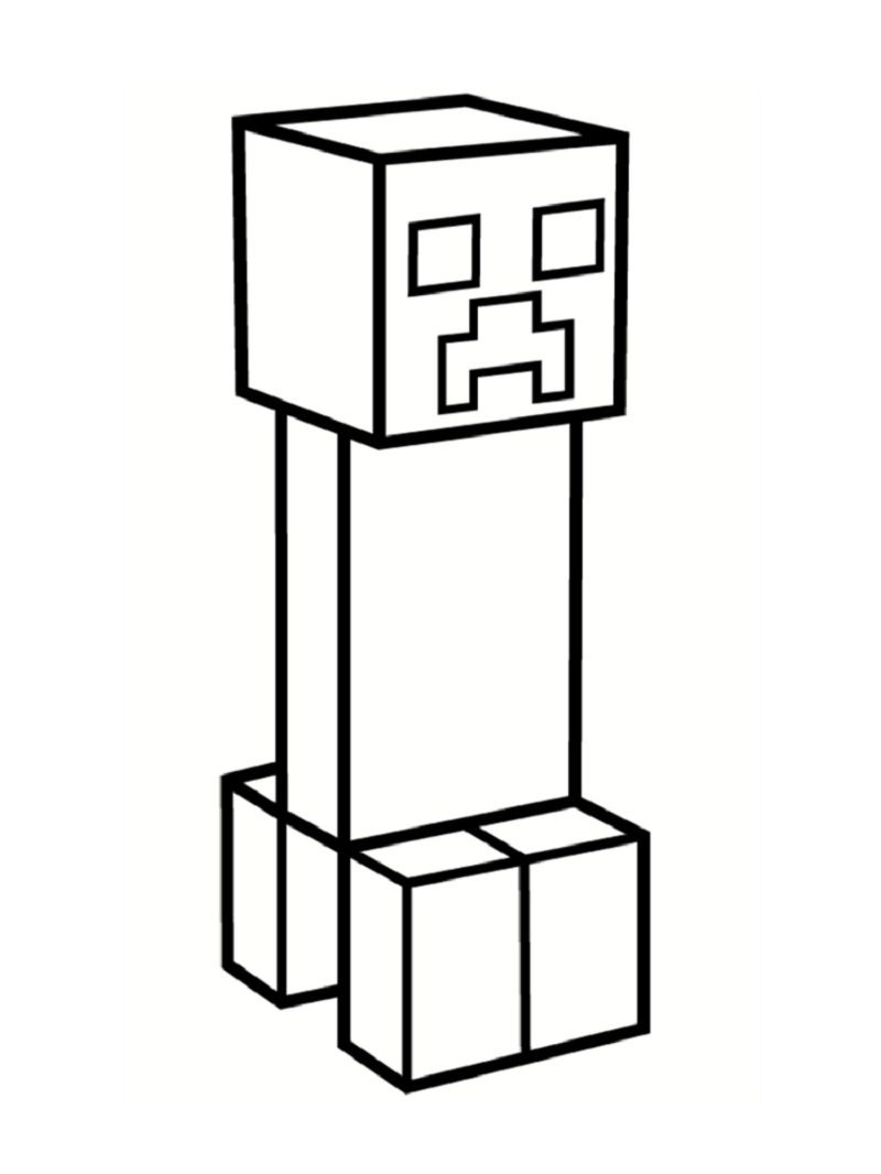 minecraft creeper coloring page 5