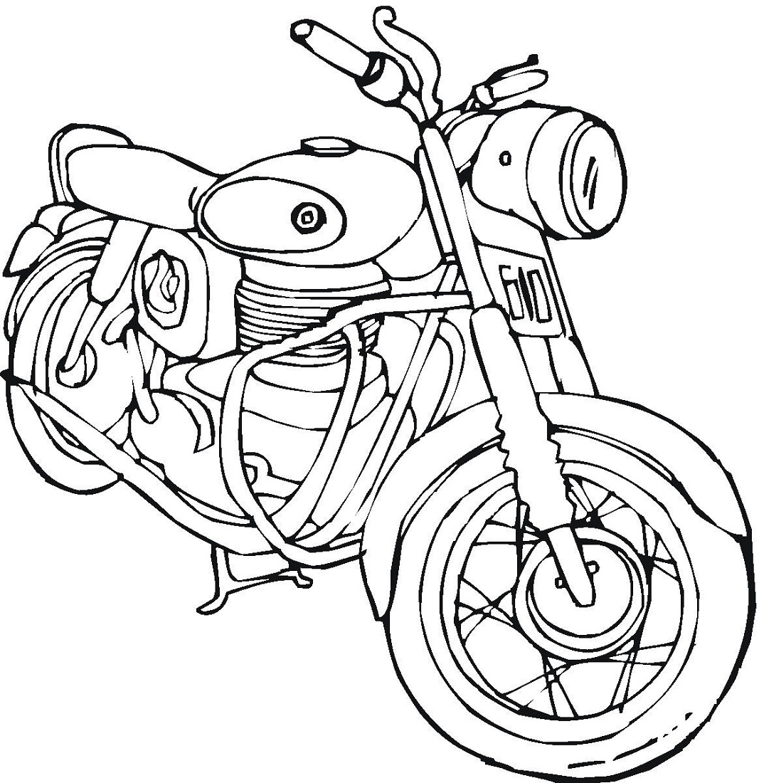 motorcycle coloring pages classic