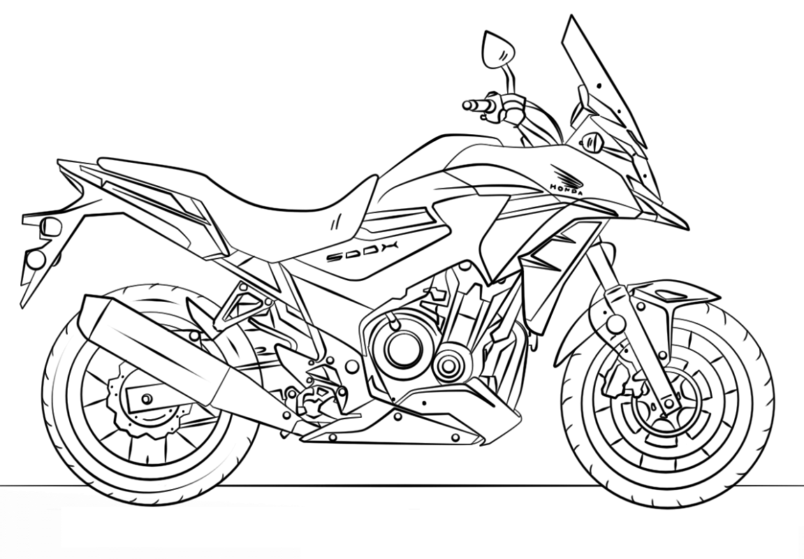 motorcycle coloring pages touring