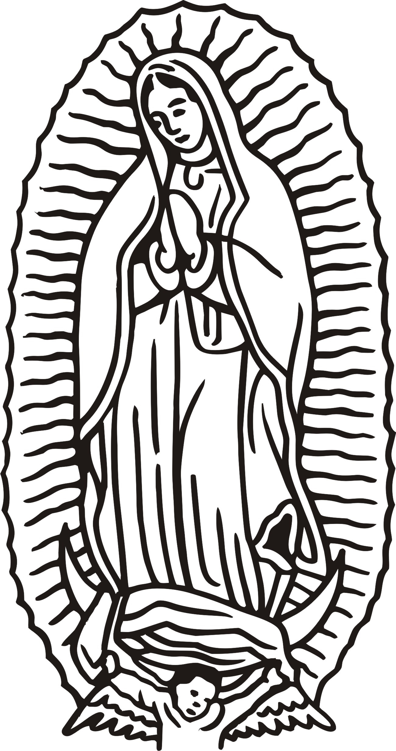 our lady of guadalupe coloring page 4