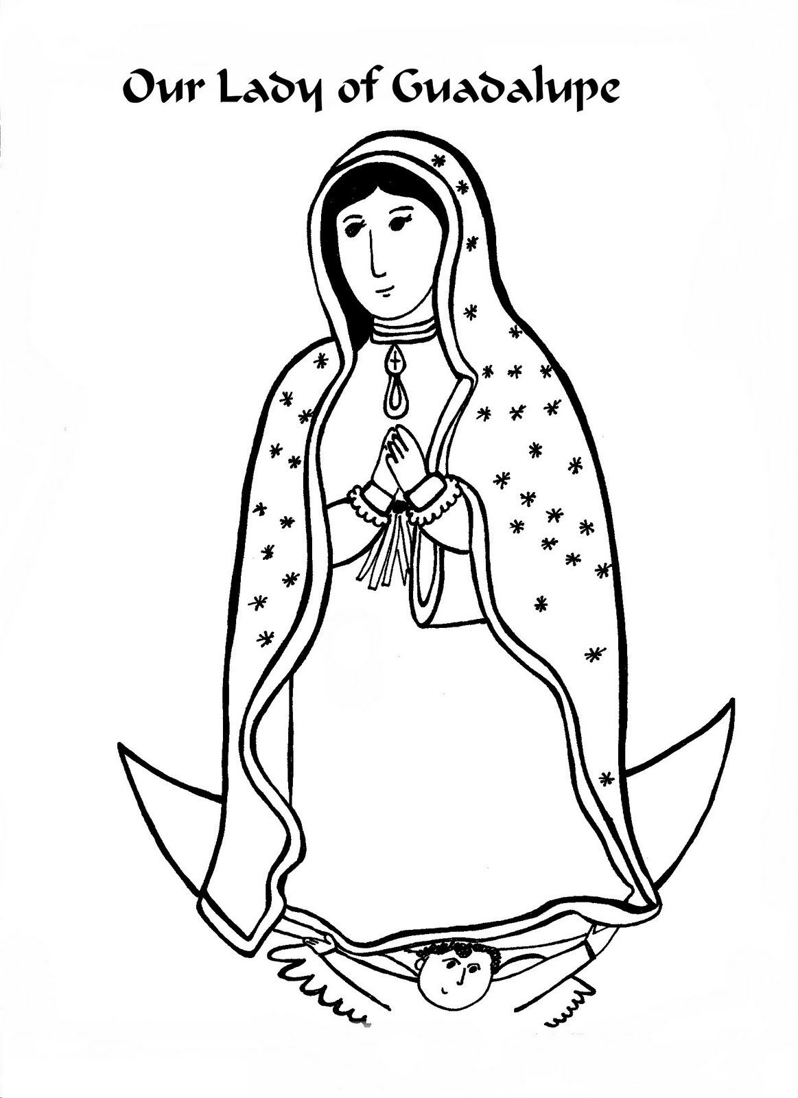 our lady of guadalupe coloring page 5