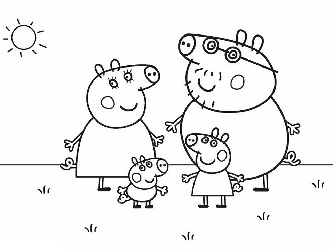 peppa pig coloring pages 1