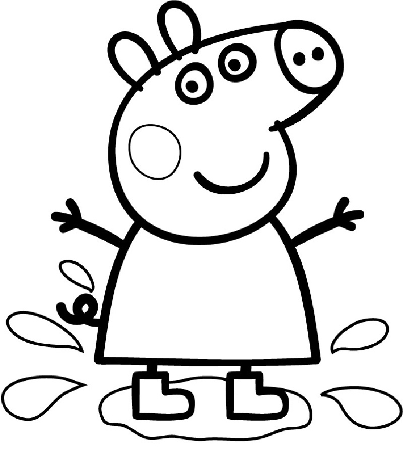 Peppa Pig Coloring Pages Usable Educative Printable