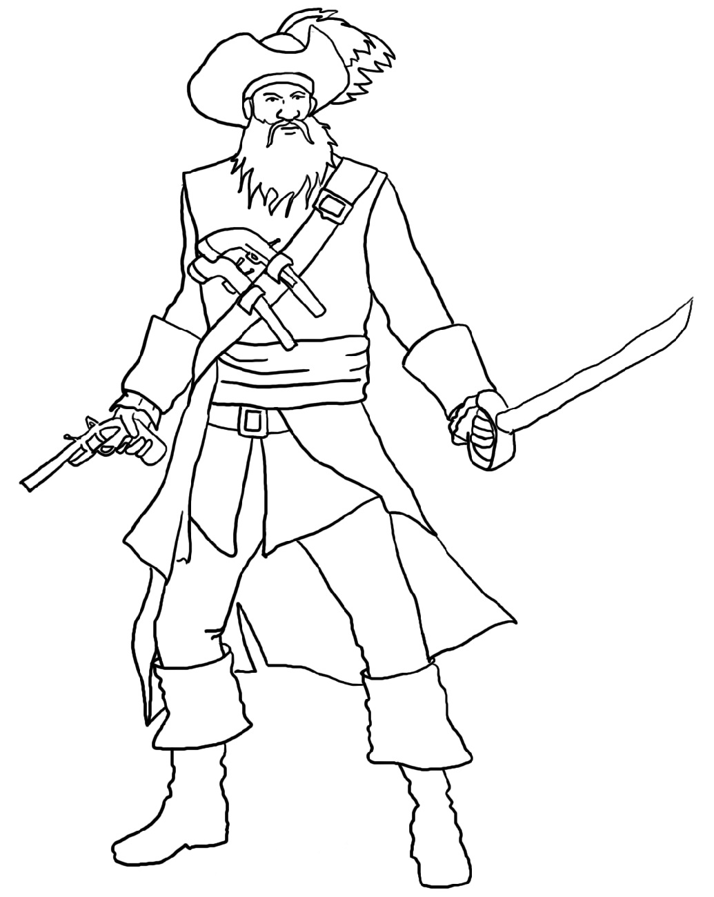 pirate coloring pages 1