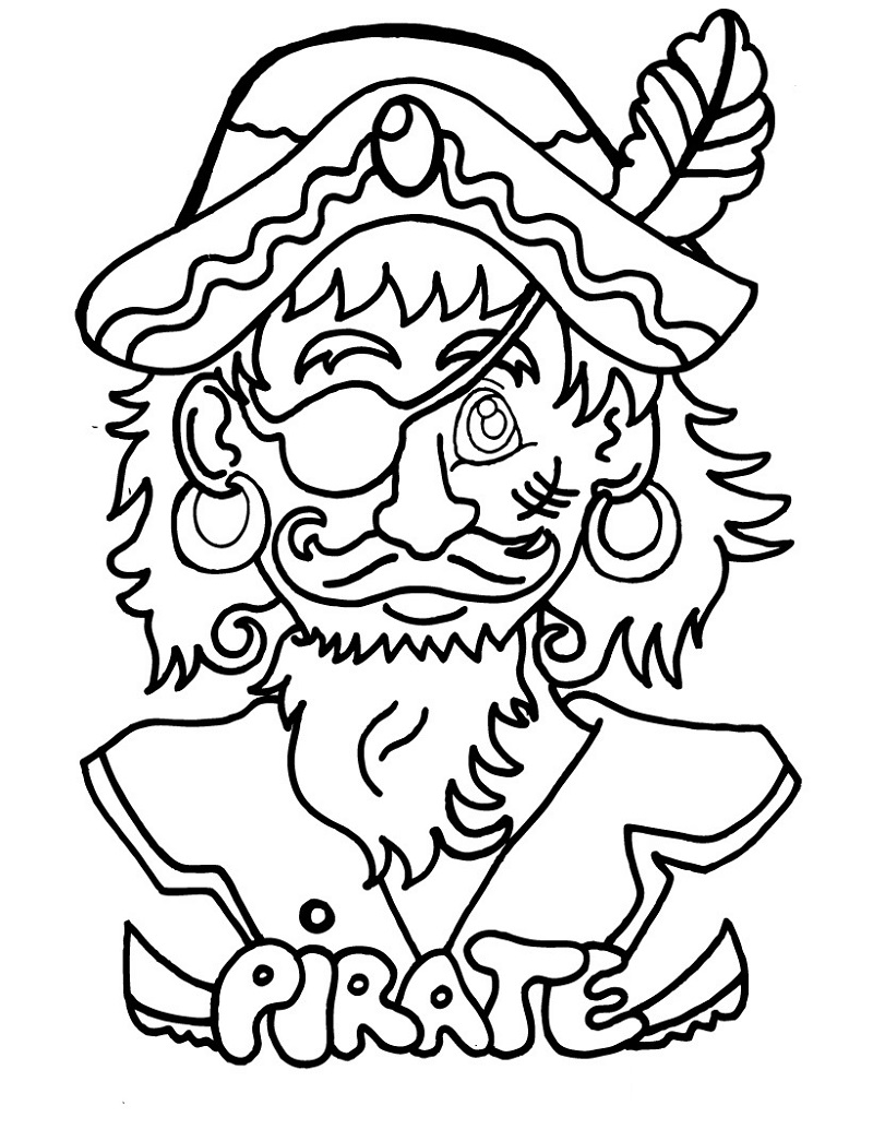pirate coloring pages 4