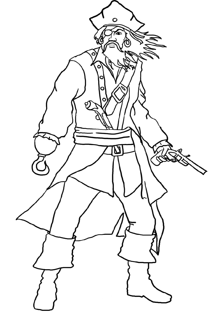pirate coloring pages 5