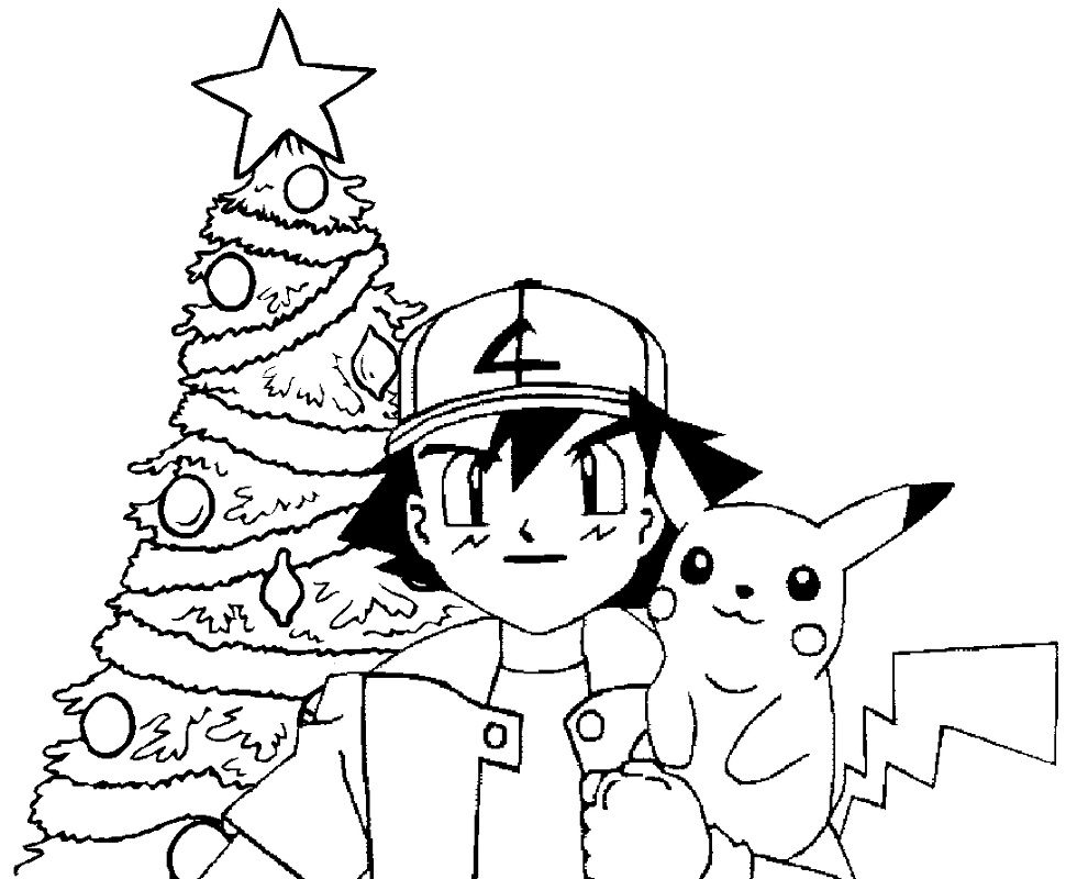 pokemon christmas coloring pages 3