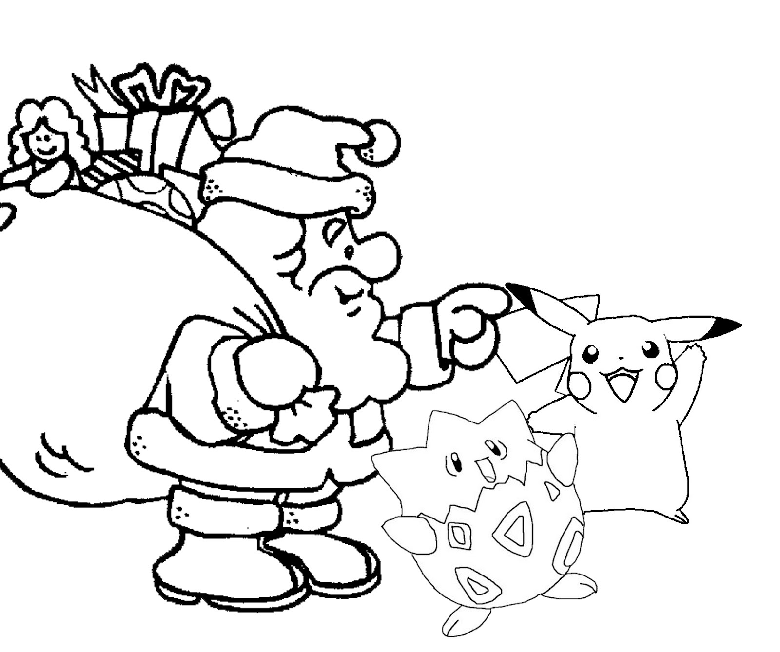 pokemon christmas coloring pages 4