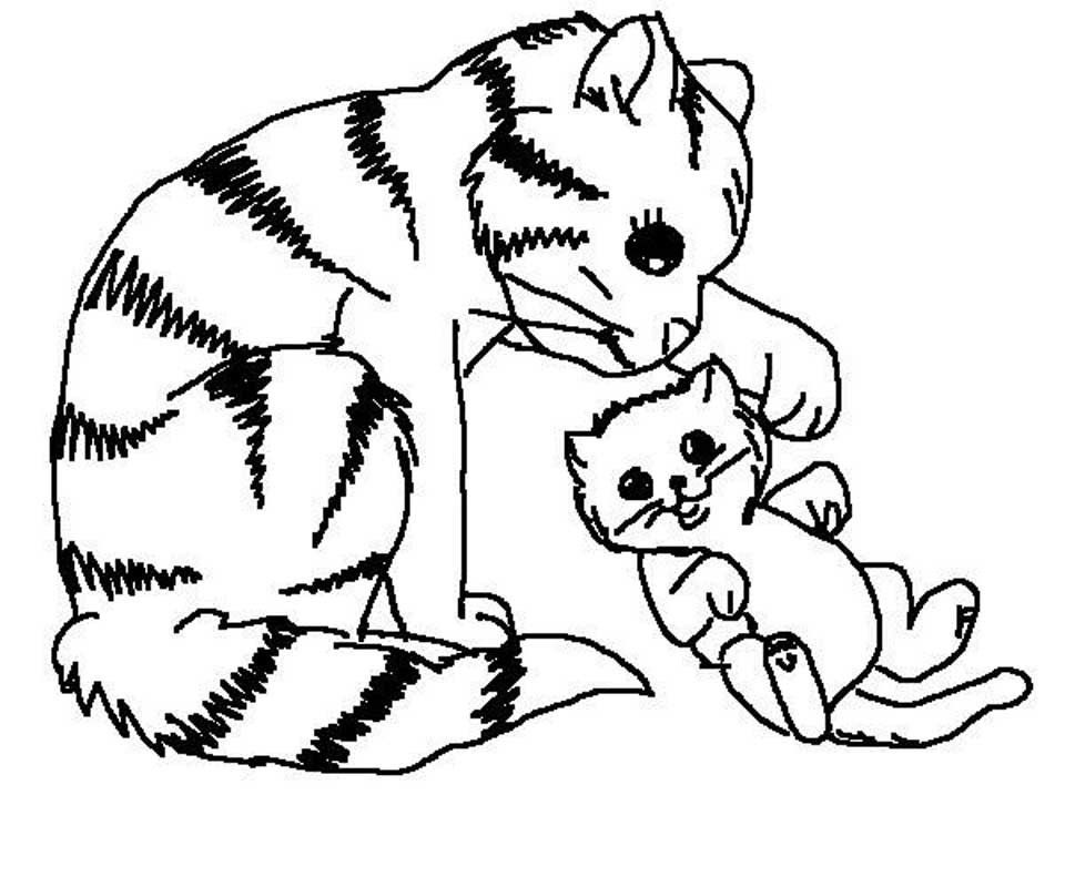 puppy and kitten coloring pages 2