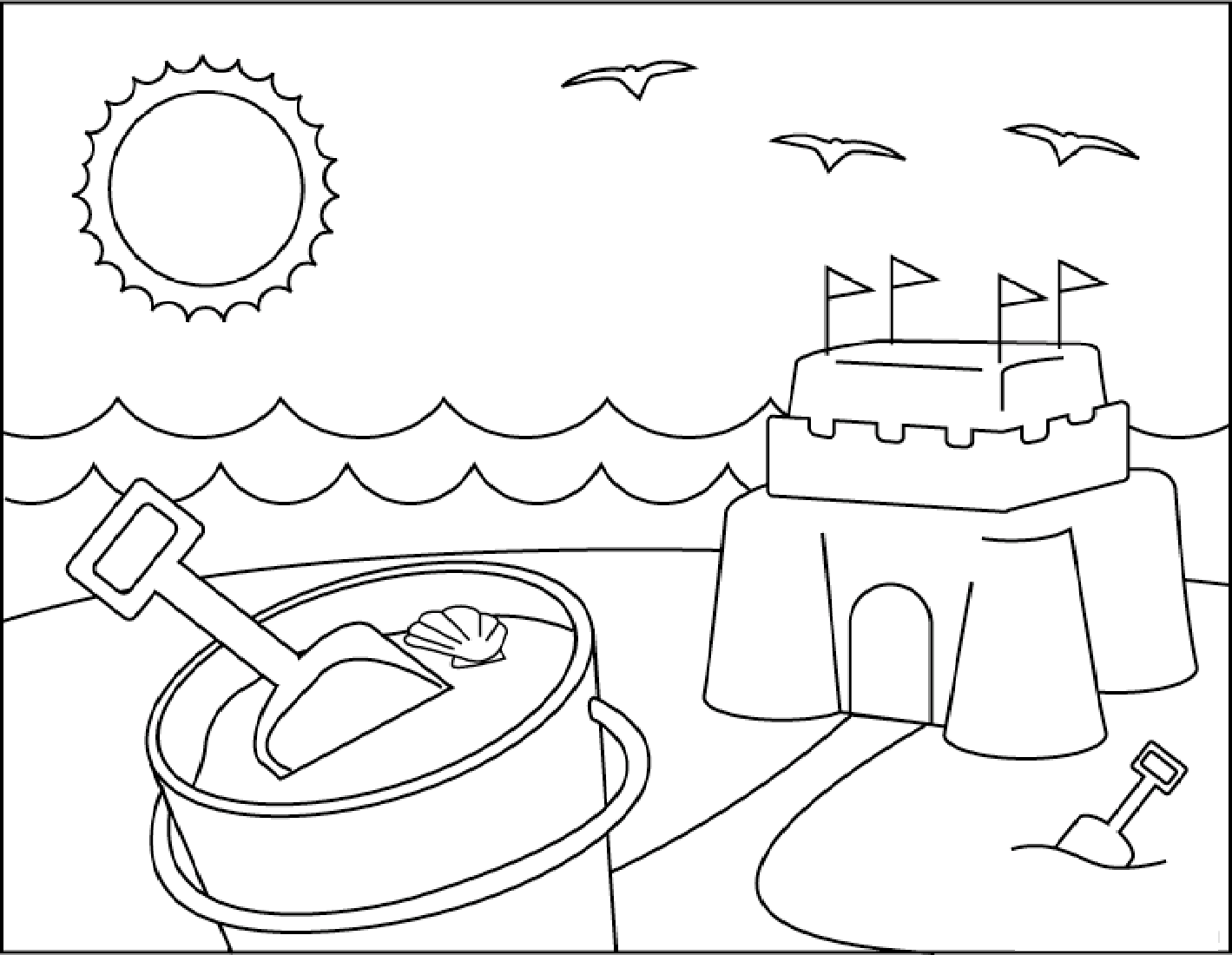 summer coloring sheets 2