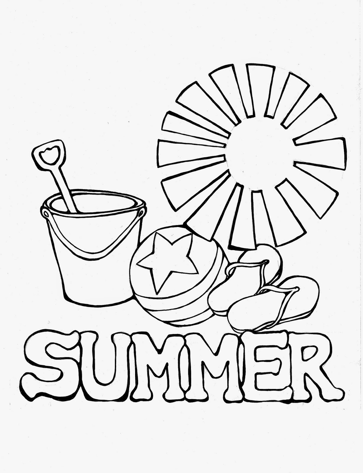 summer coloring sheets 4