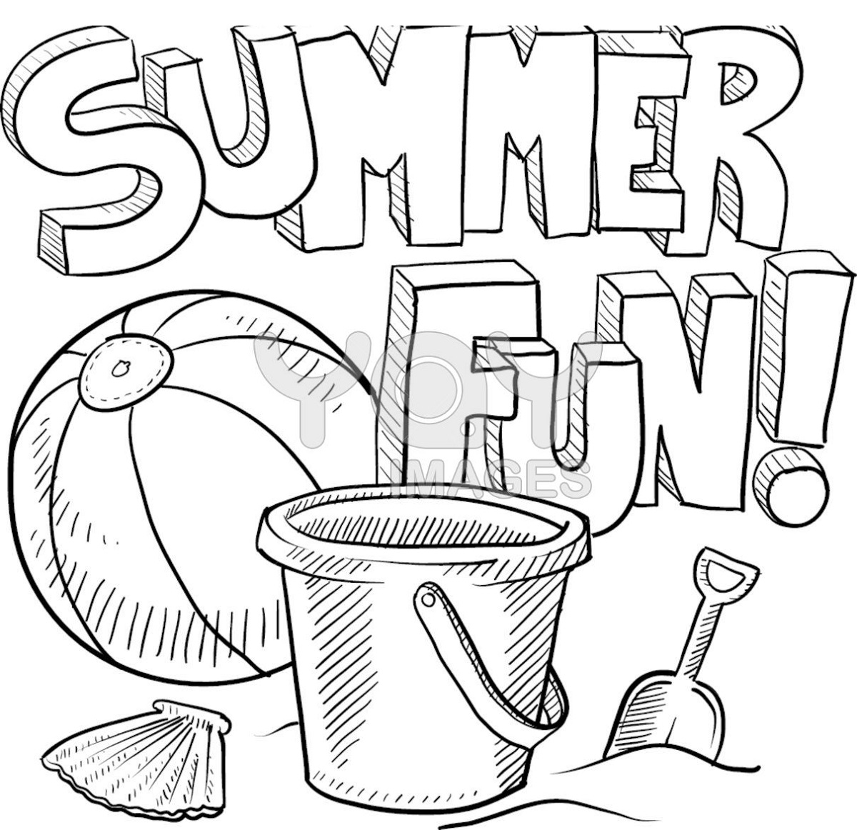 summer coloring sheets 5