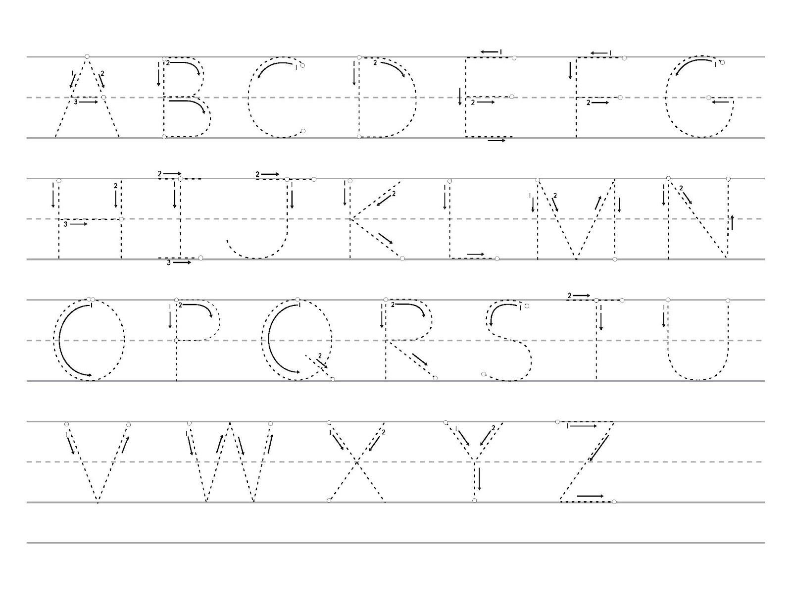 tracing alphabet 3
