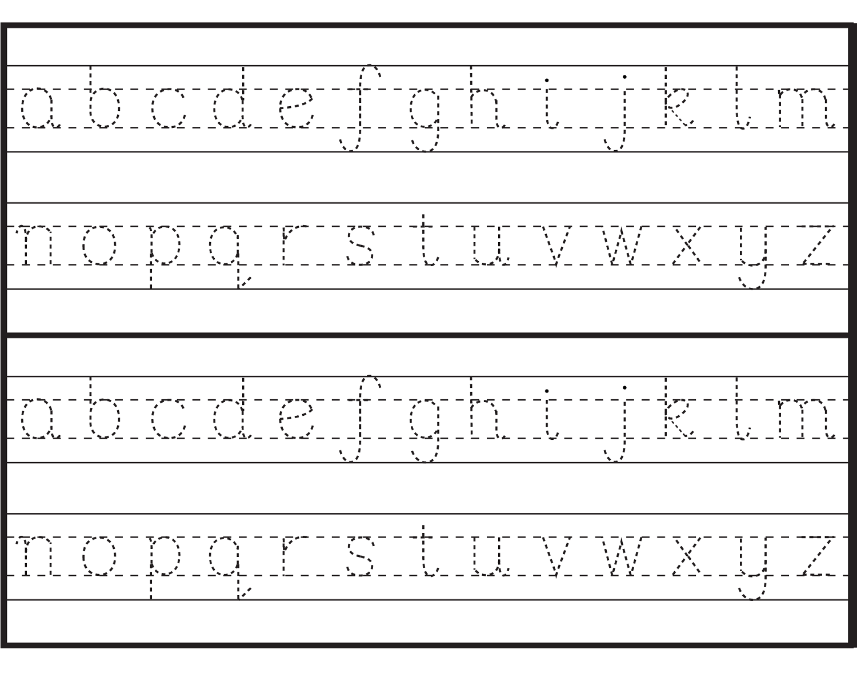 tracing alphabet 5