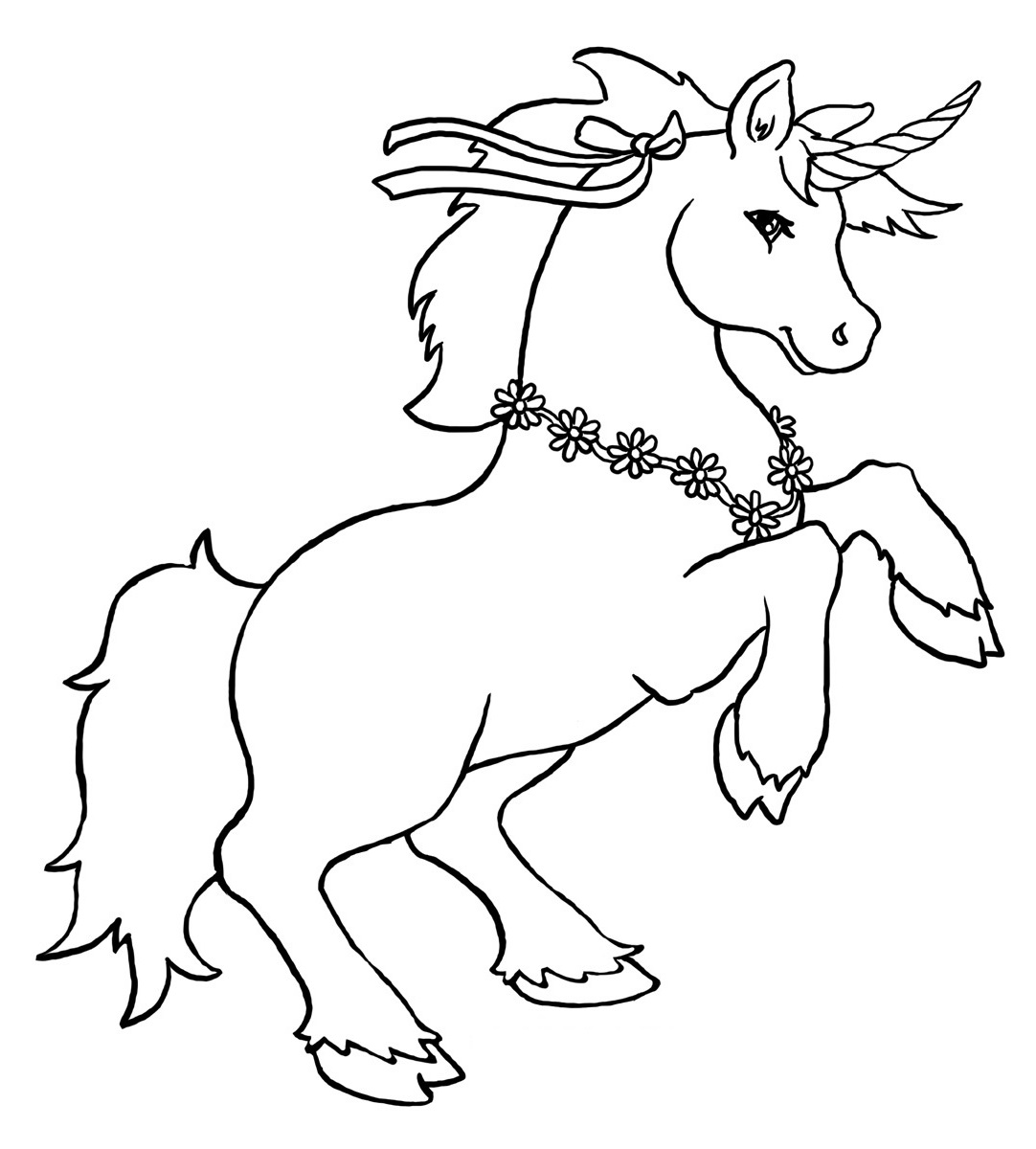 unicorn coloring unicorn 1