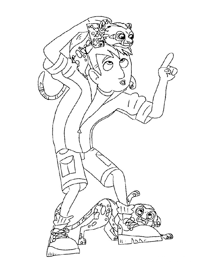 wild kratts coloring pages 5