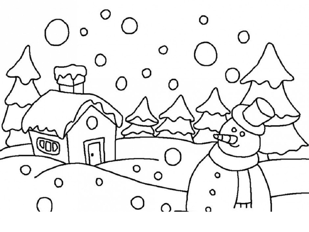 winter wonderland coloring pages 2