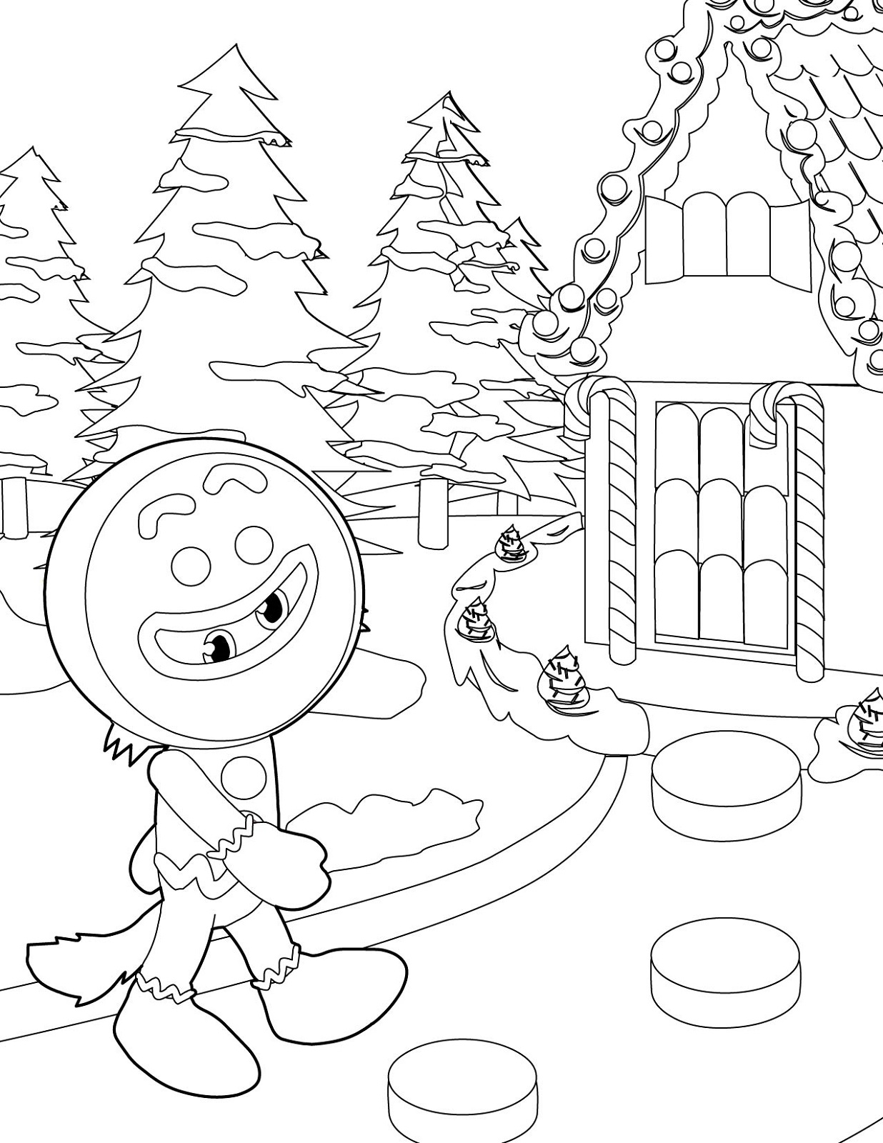 winter wonderland coloring pages 4
