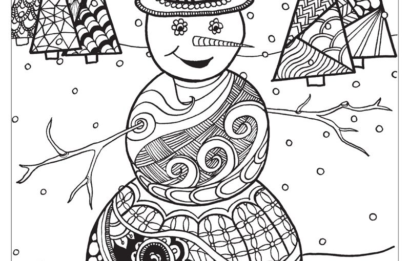 winter wonderland coloring pages 5