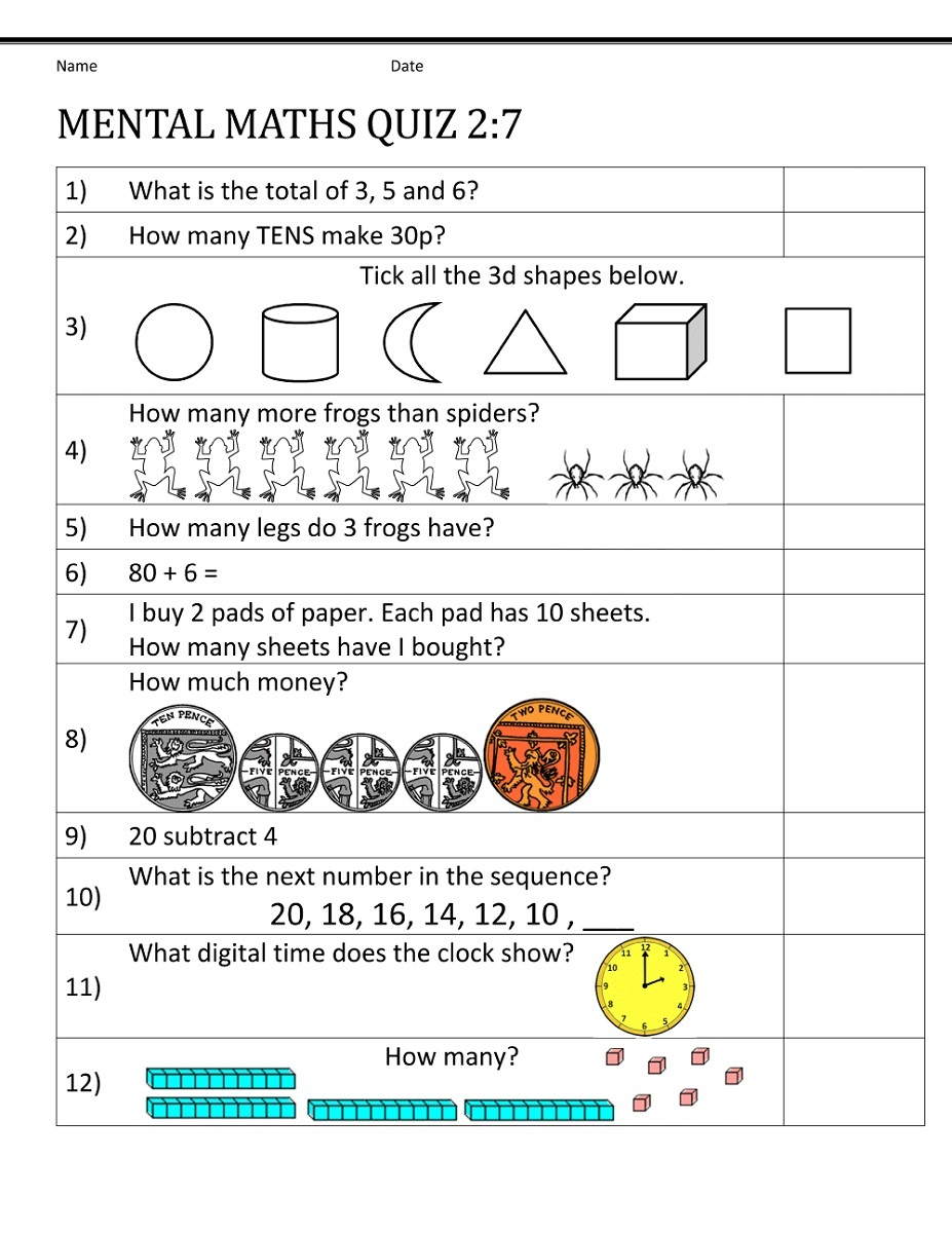 year 7 maths worksheets 3