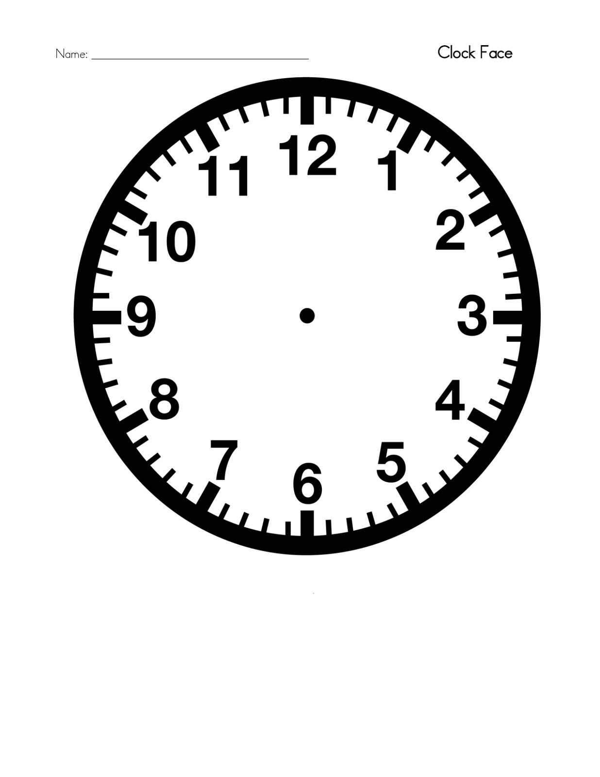 Printable Clock 5