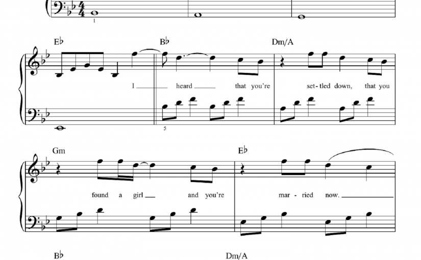 Adele Piano Sheet Music for Learning