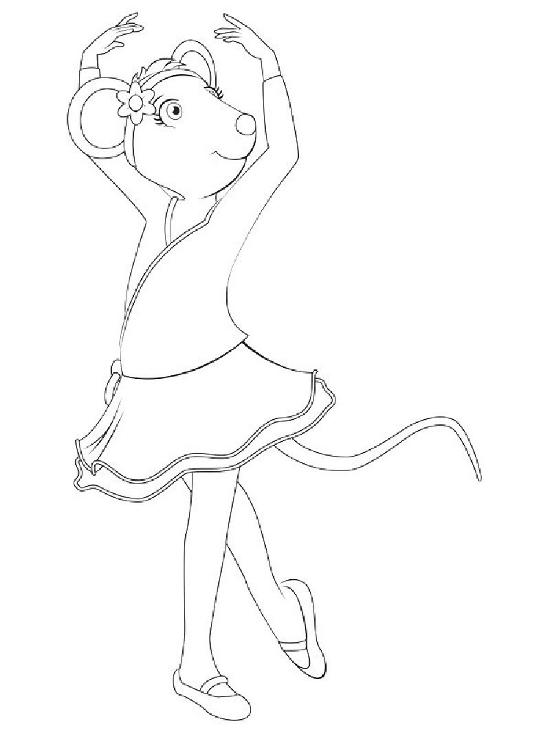 angelina ballerina coloring pages 3